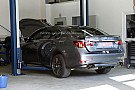 Lexus GS F prototype spied in a garage