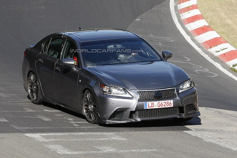 Lexus GS F spied testing in Germany