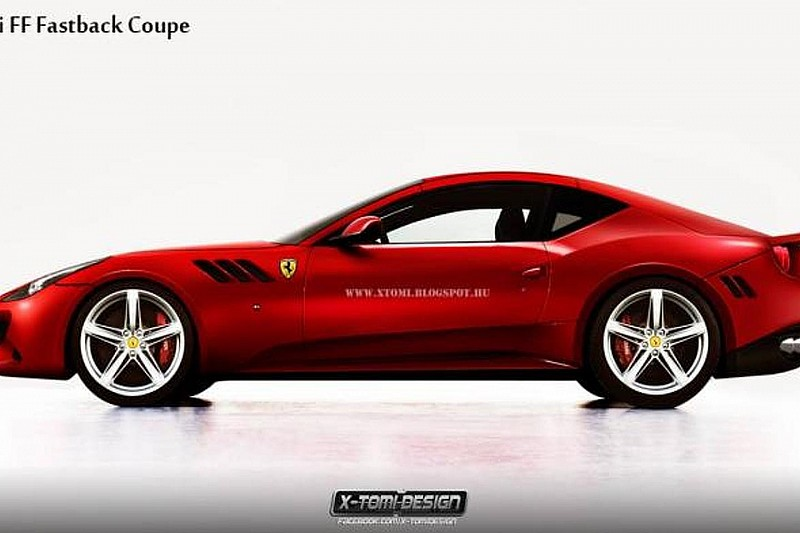 Ferrari FF fastback coupe rendered