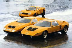 Mercedes-Benz C111 right, C111/II middle, C111/I back 1970