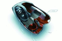 Audi Intelligent Emotion future mobility concept sketch by Maximilian Kandler