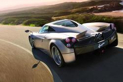 Pagani Huayra on the road