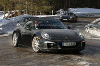 Porsche 911 prototype spied, could be the GTS Cabrio