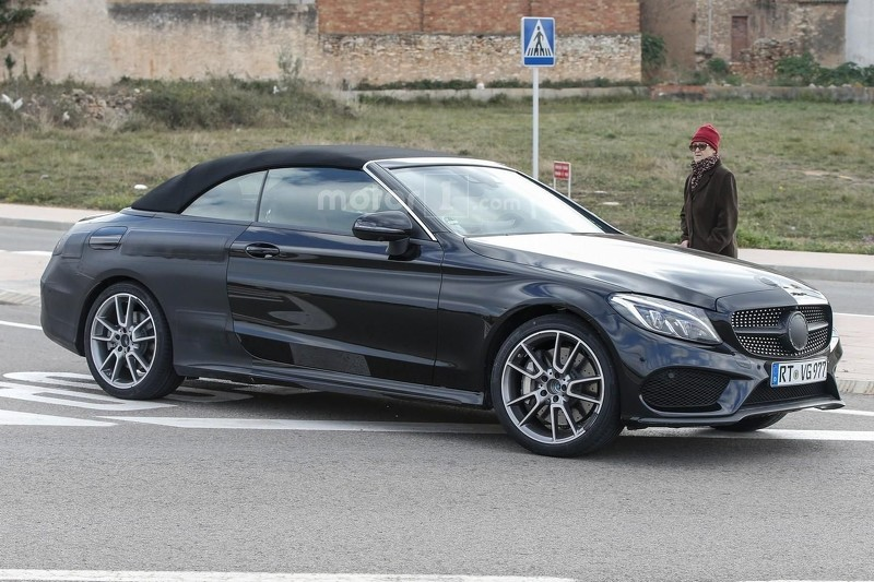 2017 mercedes amg c43 cabriolet spied stretching out for 2017 mercedes benz amg c43 convertible